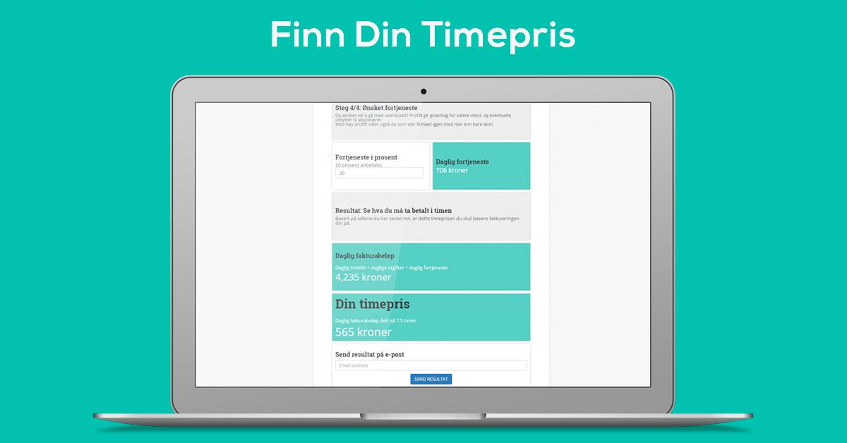 Finn din timepris