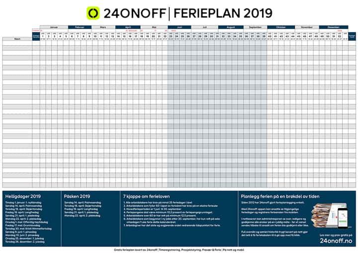 Gratis ferieplan 2019