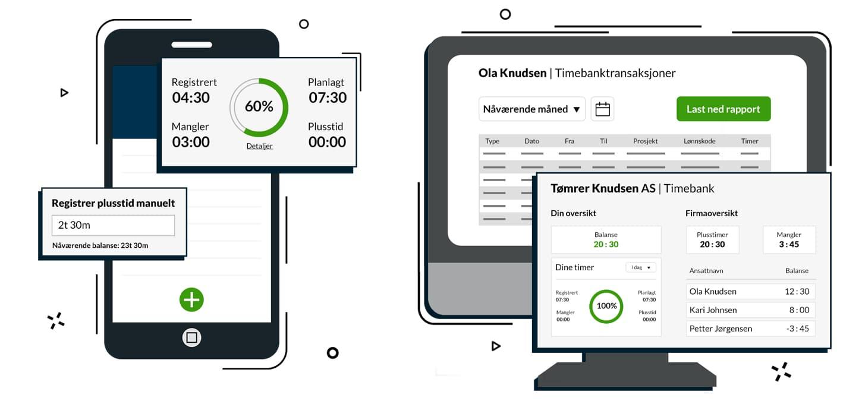 Digital timebank på nett og mobil