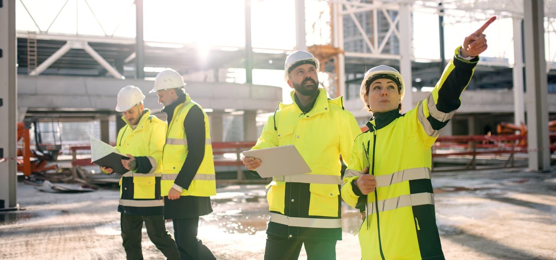 Risikovurdering på byggeplass