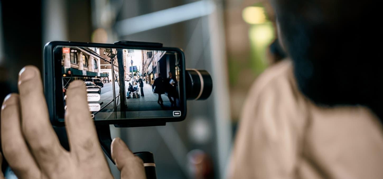 Video opptak med mobil og gimbal