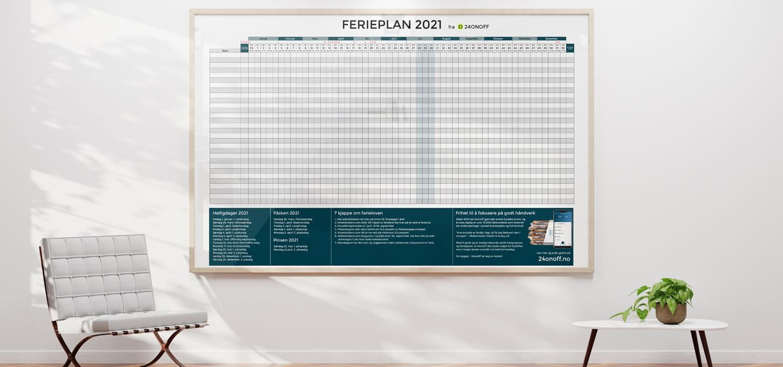 Ferieplan 2021 - Gratis mal i både pdf-, excel- og sheets-format