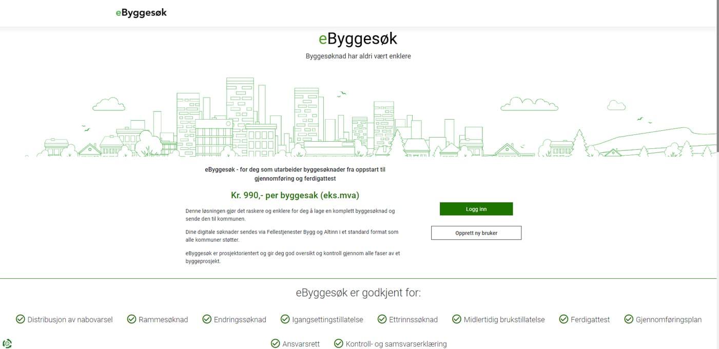 eByggesøk er en brukervennlig portal for byggesøknader